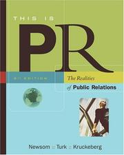 Cover of: This is PR