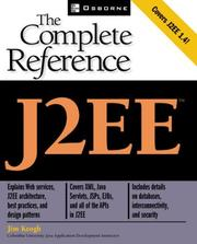 Cover of: J2EE: the complete reference