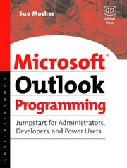 Cover of: Microsoft Outlook programming