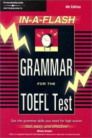 Cover of: Grammar for the TOEFL test