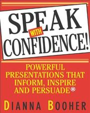 Cover of: Speak with confidence
