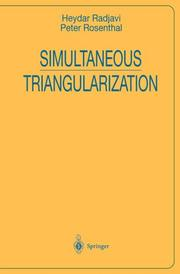Cover of: Simultaneous triangularization
