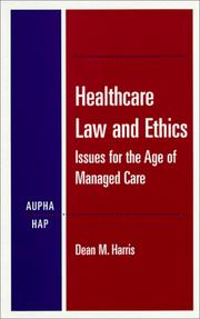 Cover of: Healthcare law and ethics