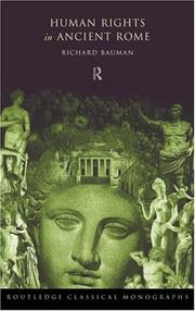 Cover of: Human rights in ancient Rome