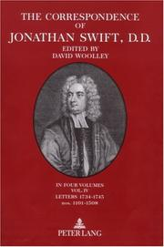 Cover of: The correspondence of Jonathan Swift, D. D.