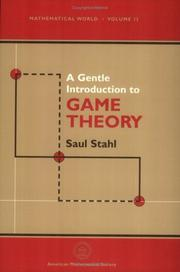 Cover of: A gentle introduction to game theory