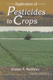 Cover of: Application of pesticides to crops