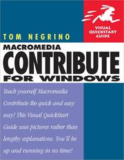 Cover of: Macromedia Contribute for Windows