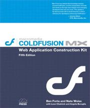 Cover of: Macromedia Coldfusion MX Web application construction kit