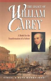 Cover of: The legacy of William Carey
