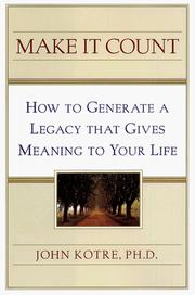 Cover of: Make it count