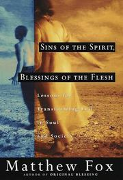 Cover of: Sins of the spirit, blessings of the flesh