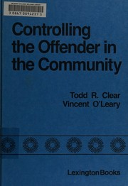 Cover of: Controlling the offender in the community