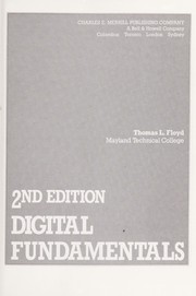 Cover of: Digital fundamentals