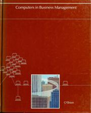 Cover of: Computers in business management: an introduction