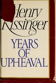 Cover of: Years of upheaval