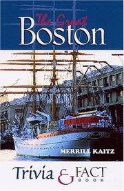 Cover of: The great Boston trivia & fact book
