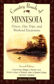 Cover of: Country roads of Minnesota: drives, day trips, and weekend excursions