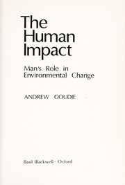 Cover of: The human impact