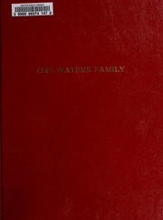 Cover of: One Waters family
