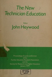 Cover of: The New technician education