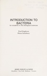 Cover of: Introduction to bacteria