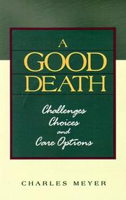 Cover of: A good death