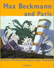 Cover of: Max Beckmann and Paris