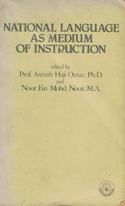 Cover of: National language as medium of instruction