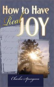 Cover of: How to have real joy