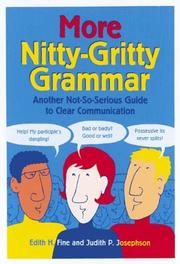 Cover of: More nitty-gritty grammar: another not-so-serious guide to clear communication