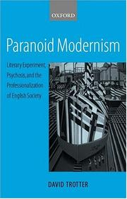 Cover of: Paranoid modernism