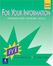Cover of: For your information intro. level: introductory reading skills