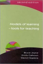 Cover of: Models of learning