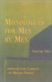 Cover of: Monologues for men by men
