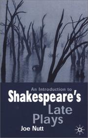 Cover of: An Introduction to Shakespeare's Late Plays