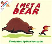 Cover of: I met a bear