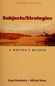 Cover of: Subjects/strategies