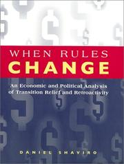 Cover of: When rules change