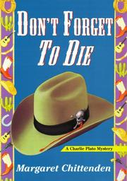 Cover of: Don't forget to die