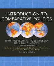 Cover of: Introduction to comparative politics