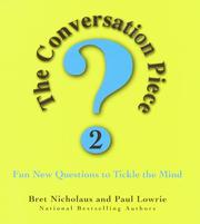 Cover of: The conversation piece 2: (a new generation of questions)