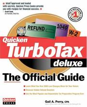 Cover of: TurboTax deluxe : the official guide for tax year 2000