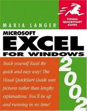 Cover of: Excel 2002 for Windows