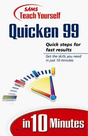 Cover of: SAMS teach yourself Quicken Deluxe 99 in 10 minutes