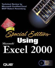 Cover of: Using Microsoft Excel 2000