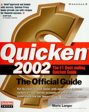 Cover of: Quicken 2002: the official guide