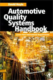Cover of: Automotive quality systems handbook