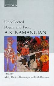 Cover of: Uncollected Poems and Prose