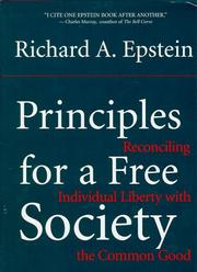 Cover of: Principles for a free society
